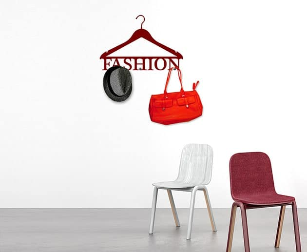adesivi da parete appendiabiti fashion arredo