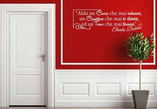 adesivi da parete frase Charles Dickens design