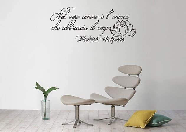 adesivi da parete frase Friedrich Nietzsche