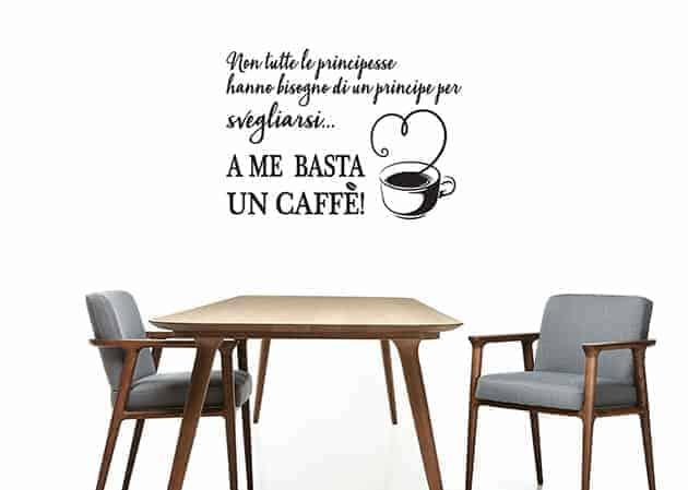 adesivi da parete frase caffè cucina arredo