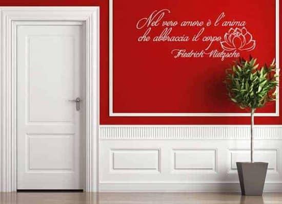 adesivi murali frase Friedrich Nietzsche