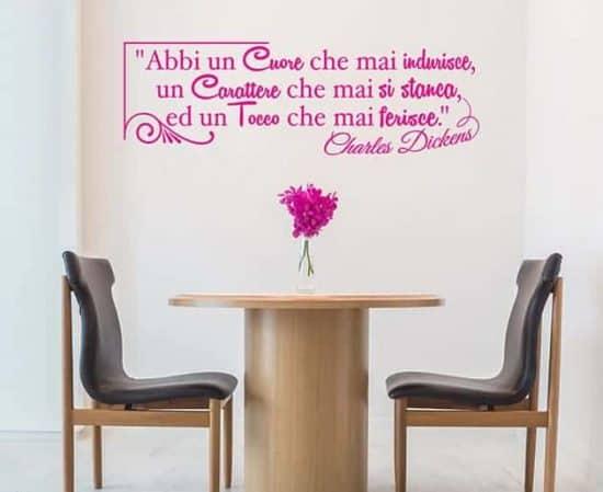 decorazioni murali frase Charles Dickens design