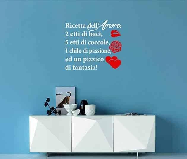 decorazioni murali ricetta dell'amore