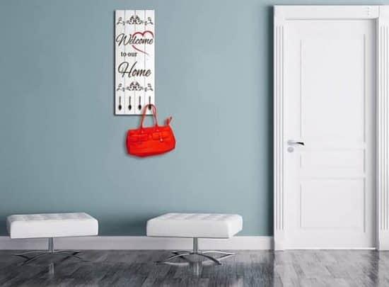 pannelli decorativi appendiabiti shabby chic in legno