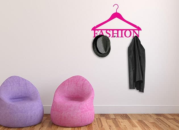 wall stickers appendiabiti fashion arredo