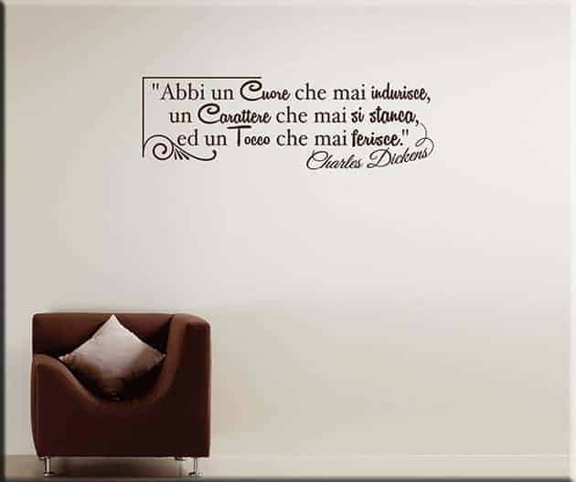 wall stickers frase Charles Dickens design