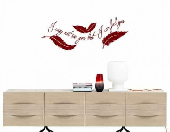 wall stickers frase arredo piume design