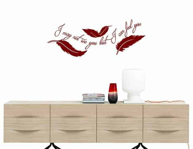 wall stickers frase arredo piume design