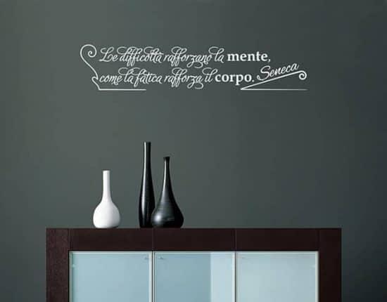 wall stickers frase citazione seneca