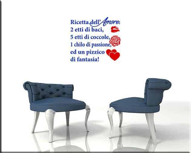 wall stickers ricetta dell'amore