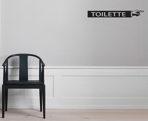 Adesivi da parete indicazioni toilette uomo donna