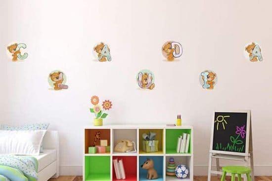Adesivi da parete nome personalizzato camerette