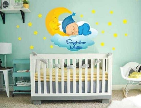 Adesivi murali bebè personalizzato nome bambino