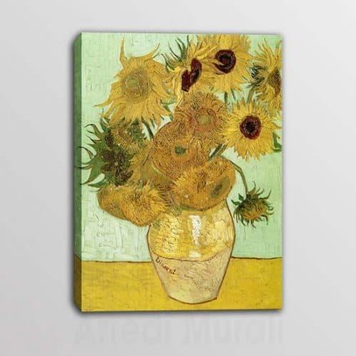 Quadro moderno Van Gogh Vaso di Girasoli riproduzione