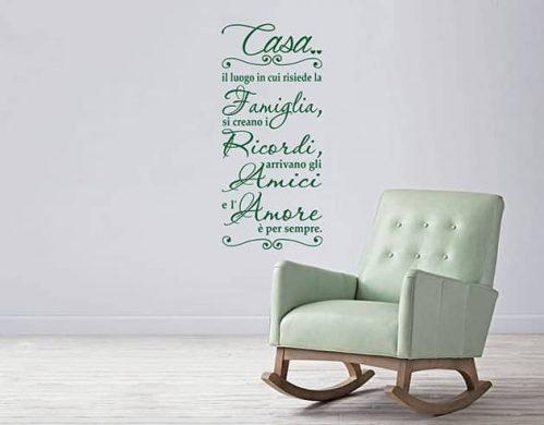 adesivi da parete frase casa famiglia arredo