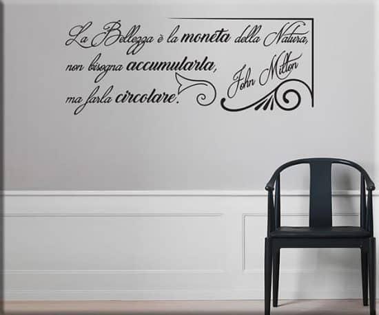 adesivi murali frase bellezza John Milton