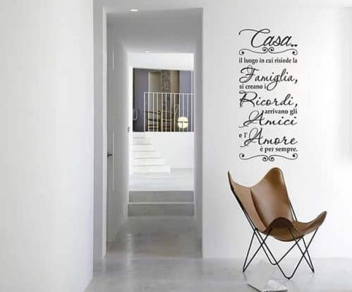 adesivi murali frase casa famiglia arredo