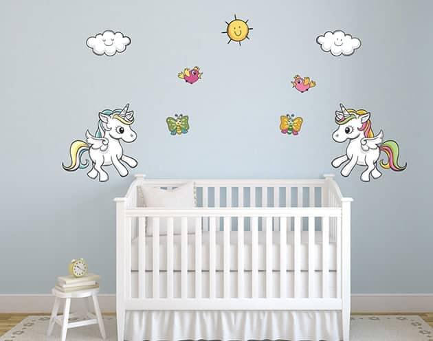 Adesivi murali unicorni camerette bambini - Adesivi murali per camerette ...
