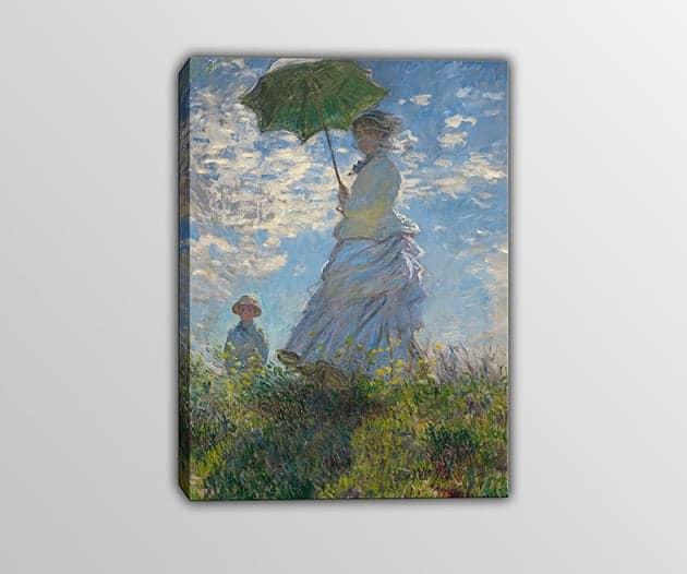 quadro moderno Monet donna con il parasole