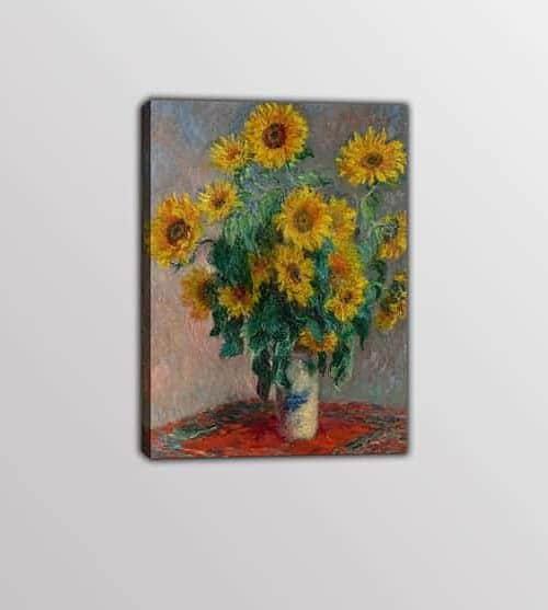quadro moderno Monet vaso di girasoli
