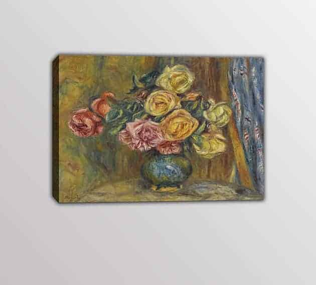 quadro moderno Pierre-Auguste Renoir vaso di fiori