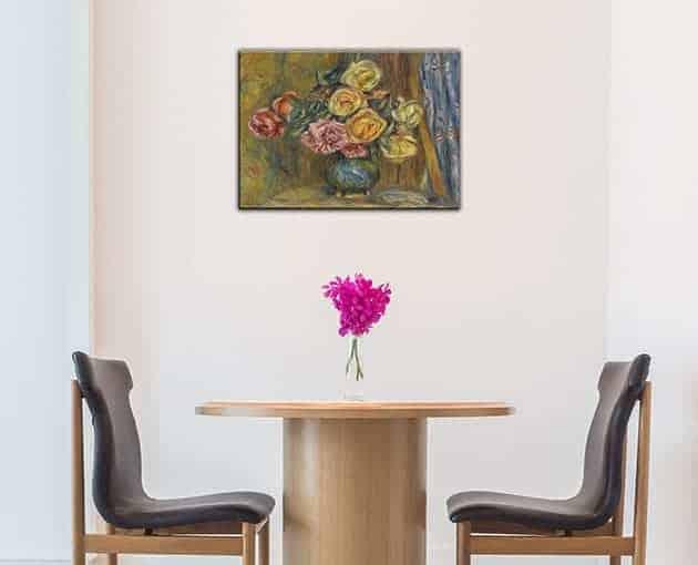 quadro moderno Renoir vaso di fiori