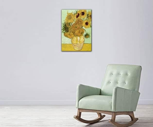 quadro moderno Vincent Van Gogh Vaso di girasoli stampa