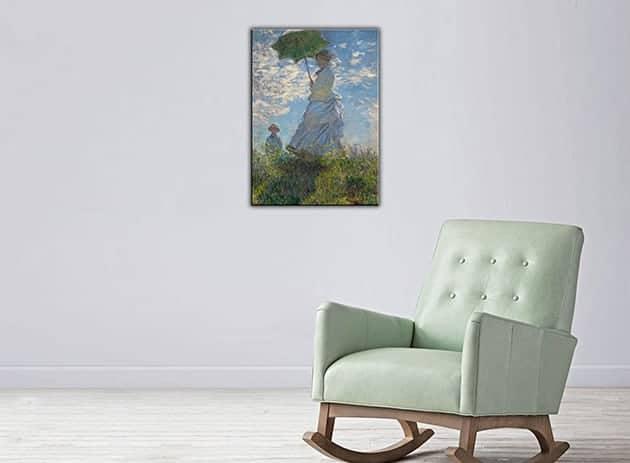 quadro moderno donna con il parasole Monet
