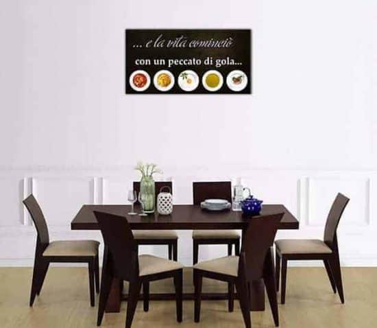 quadro moderno frase cucina arredo