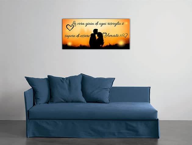 quadro moderno stampa frase amore