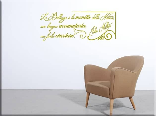 wall stickers frase bellezza John Milton