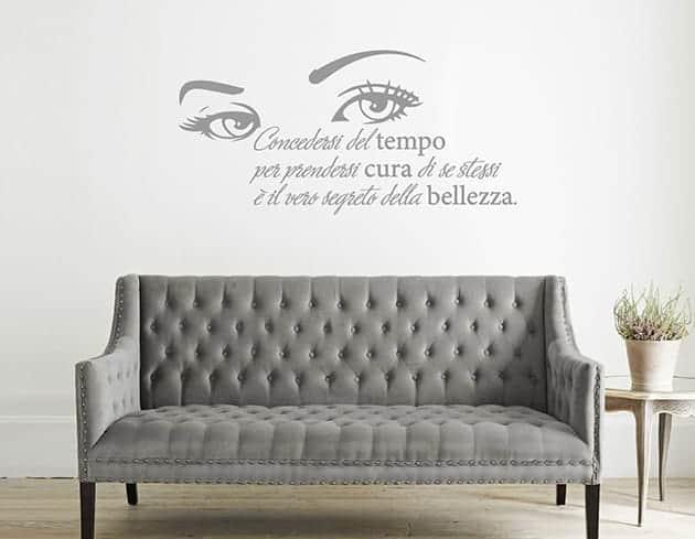 wall stickers frase bellezza arredo design