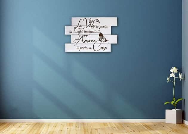 Shabby chic pannelli decorativi in legno frase casa