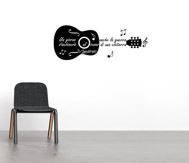 adesivi da parete frase Jim Morrison chitarra