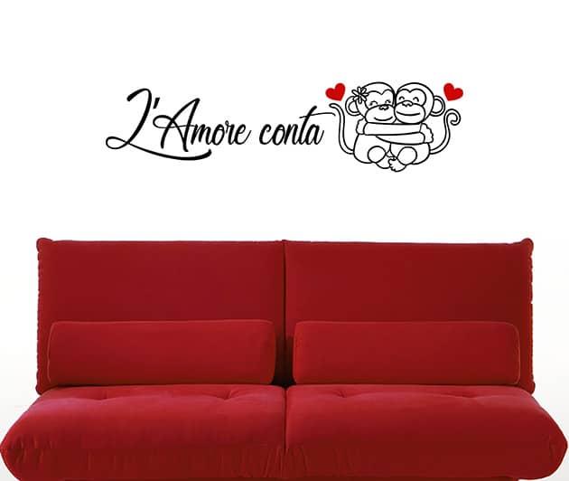 adesivi da parete frase amore camera da letto