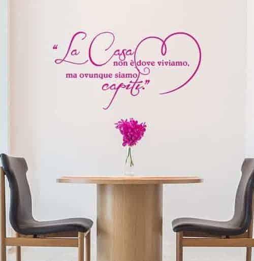 adesivi da parete frase arredo casa love