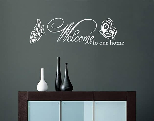 adesivi da parete frase welcome arredo casa