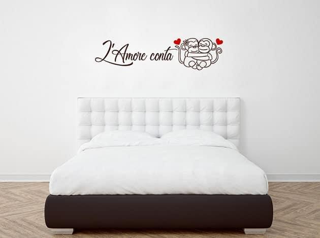adesivi murali frase amore camera da letto