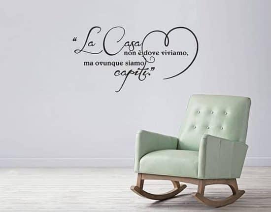 adesivi murali frase arredo casa love