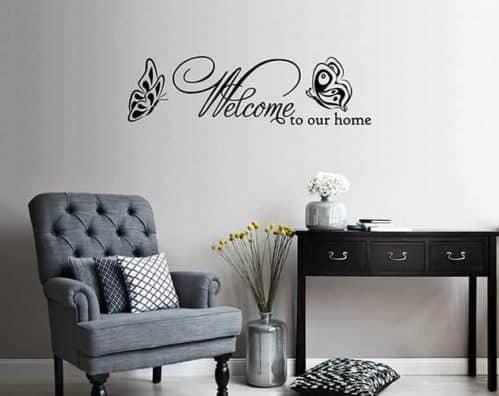 adesivi murali frase welcome arredo casa
