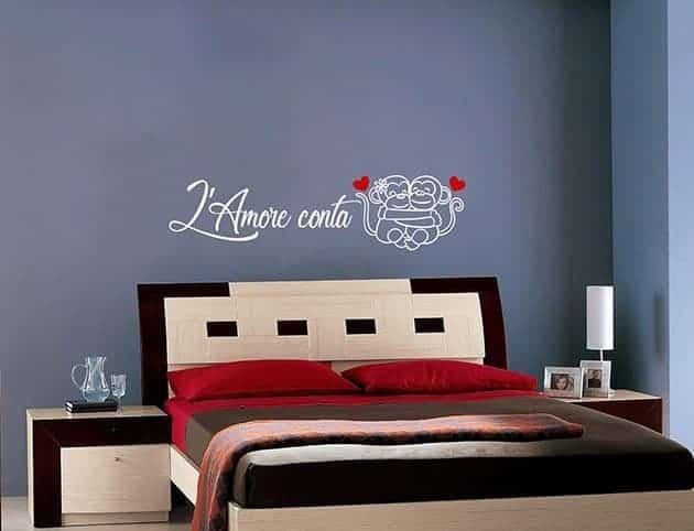 Adesivi da parete frase amore camera da letto - Decorazioni camera da letto ...