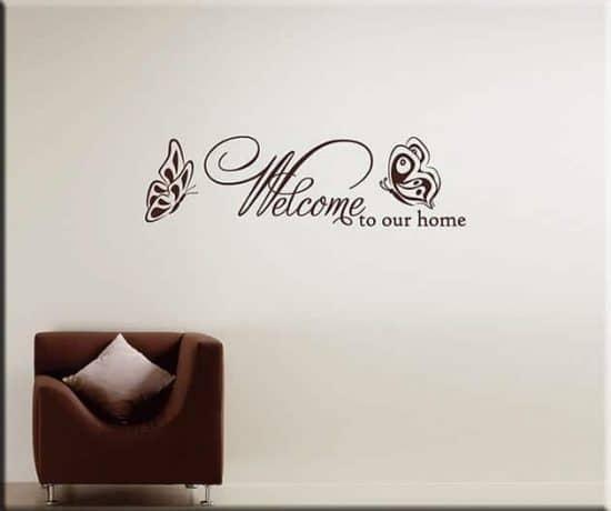 decorazioni da parete frase welcome arredo casa