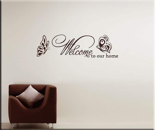Adesivi murali frase welcome arredo casa arredi murali - Decorazioni da parete ...