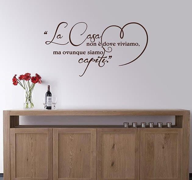 decorazioni murali frase arredo casa love