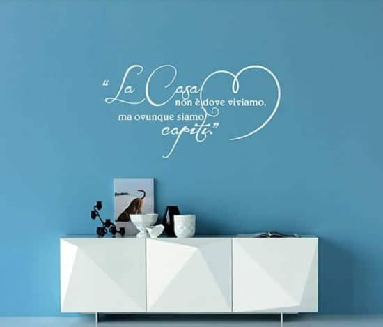 wall stckers frase arredo casa love