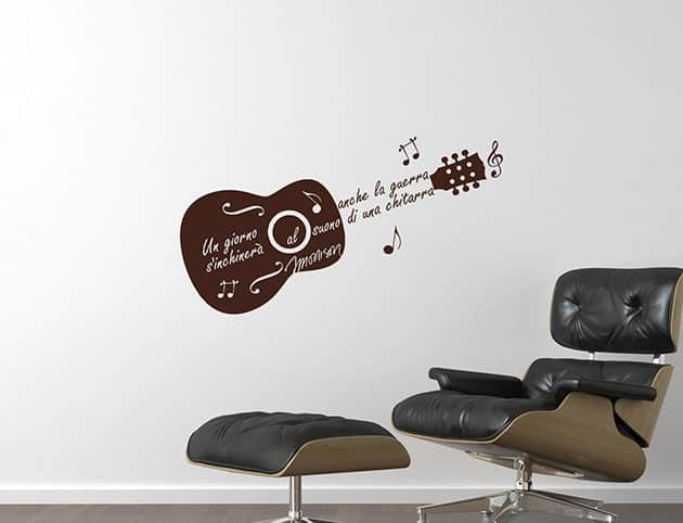 wall stickers frase Jim Morrison chitarra