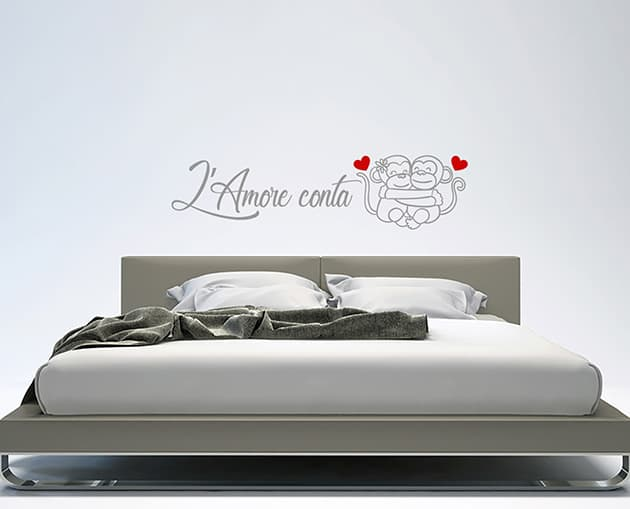 wall stickers frase amore camera da letto