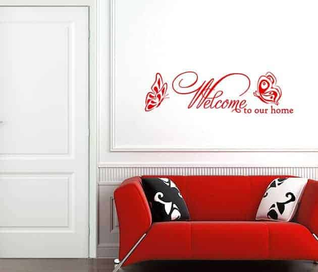 wall stickers frase welcome arredo casa
