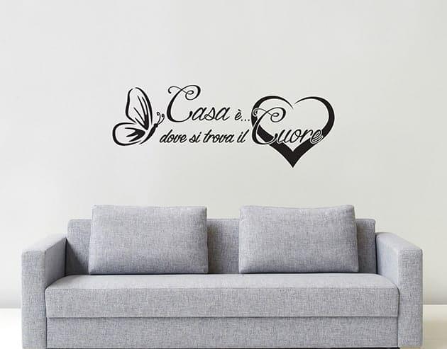 Adesivi da parete frase arredo casa cuore