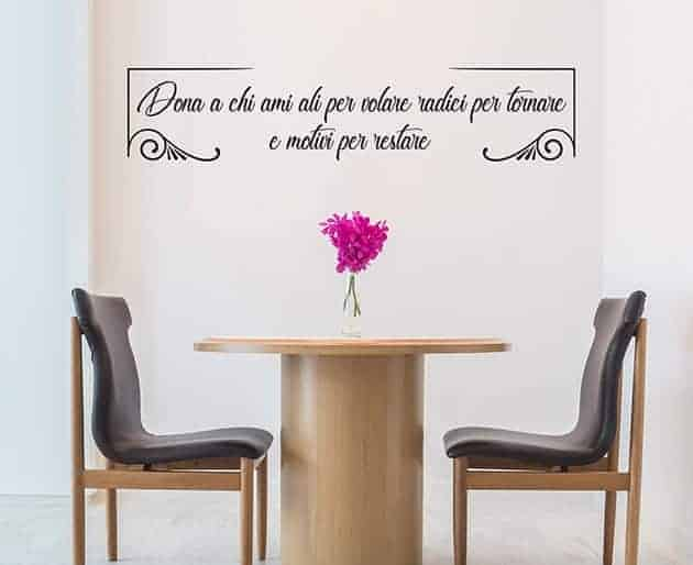 Decorazioni adesive da muro frase personalizzata